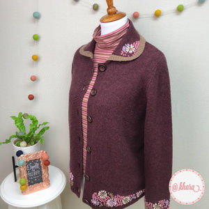 Vintage Woolrich Button-Front Embroidered Cardigan